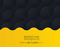 Black & Yellow Abstract Creative Background Free
