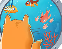 Cat and fishs