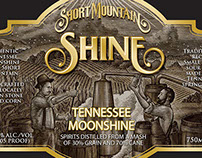 Short Mountain Distillery Label Artwork by Steven Noble