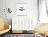 Frame Mockup Nursery Interior