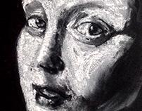 Illustrations in chalk, pencil , sanguine