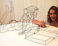 Between sculpture and drawing