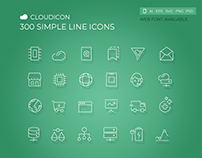 Cloudicon - 300 Simple Line Icon