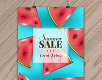 Realistic Summer Sale Poster I | Designed for Freepik
