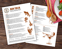 Menu Design - Bar Tulia