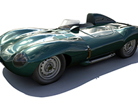 JAGUAR D-TYPE MAYA MODEL