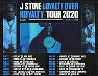 J Stone — 2020 Tour Flyer — Art Direction byDBDS®