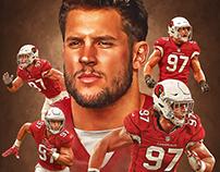 Nick Bosa Arizona Cardinals poster