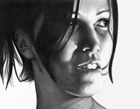 Retratos en lápiz y carbonilla de Gabriel Tomas