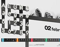 Creative typography for calendar