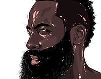 Adobe DRAW : NBA series - James Harden 2