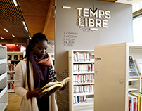 Signalétique & identité Bibliothèque Lyon 7