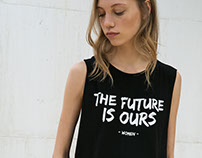 """The Future is Ours"" t-shirt for Bershka_SS16"
