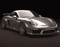 Porsche Cayman GT4 Studio shoots
