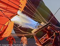 balloon flight in the desert of dubai