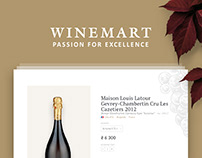 UI/UX Website design of Online Store selling wine