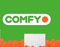 Comfy. Реклама холодильников