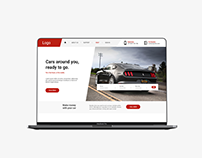Website Design of Self Drive Car Company