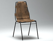 French Vintage Leather Chair 3D Model