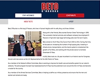 Responsive Web: Beto O'Rourke for Congress