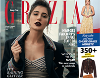 NARGIS FAKHRI FOR GRAZIA INDIA OCTOBER 2016 COVER STORY