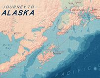 Alaska Map typography