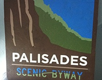 Palisades Carved Graphic Sign