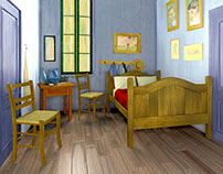 Vincent van Gogh's bedroom in Arles