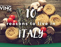Italy Infographic International Living 2016