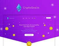 Web Design UI - CryptoGoal.io