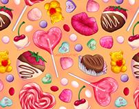 Valentine's Day Candy Pattern Design