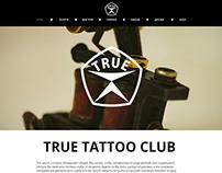 """Website for tattoo studio """"True tattoo club"""""""