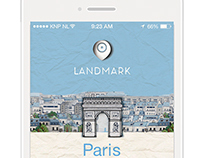 App concept - Landmark