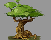study tree (b&w + color)
