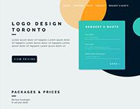 Web design landing page for logo design