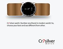 Cr7silver Watch
