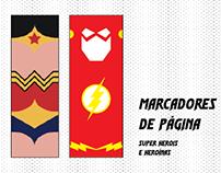 Marcadores de página - Tema: Super Heróis (DC)