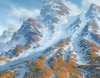 Snow covered Ridge