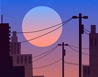 Moon illustration collection