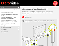 Diseño e ilustración de ClaroVideo Player COSHIP