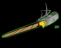 Skew & Whiff Clothing: Marge Simpson Blunt