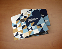 Square Cool Pattern Trifold