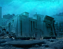 Digital Art - Matte painting - Under water scene