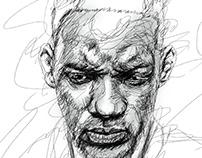 Line portrait artist