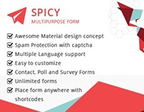Material Based Spicy Form for Wordpress