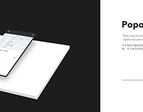 Popover design principles