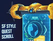 Futuristic Quest Scroll