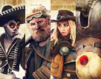 Cyberpunk Western Character Design