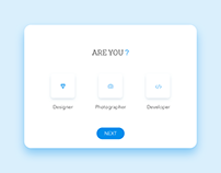 Daily UI #064 - Select User Type