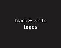 Черно-белые логотипы.